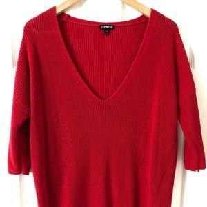Beautiful red fall sweater